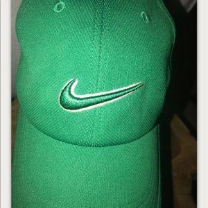 Nike Accessories - Nike Golf Hat Green White 3D Logo Adjustable